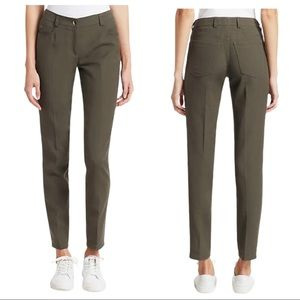 Akris Magda Cotton Silk Stretch Pants In Canvas 12